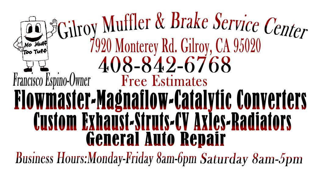 Gilroy Muffer And Brake Service Center