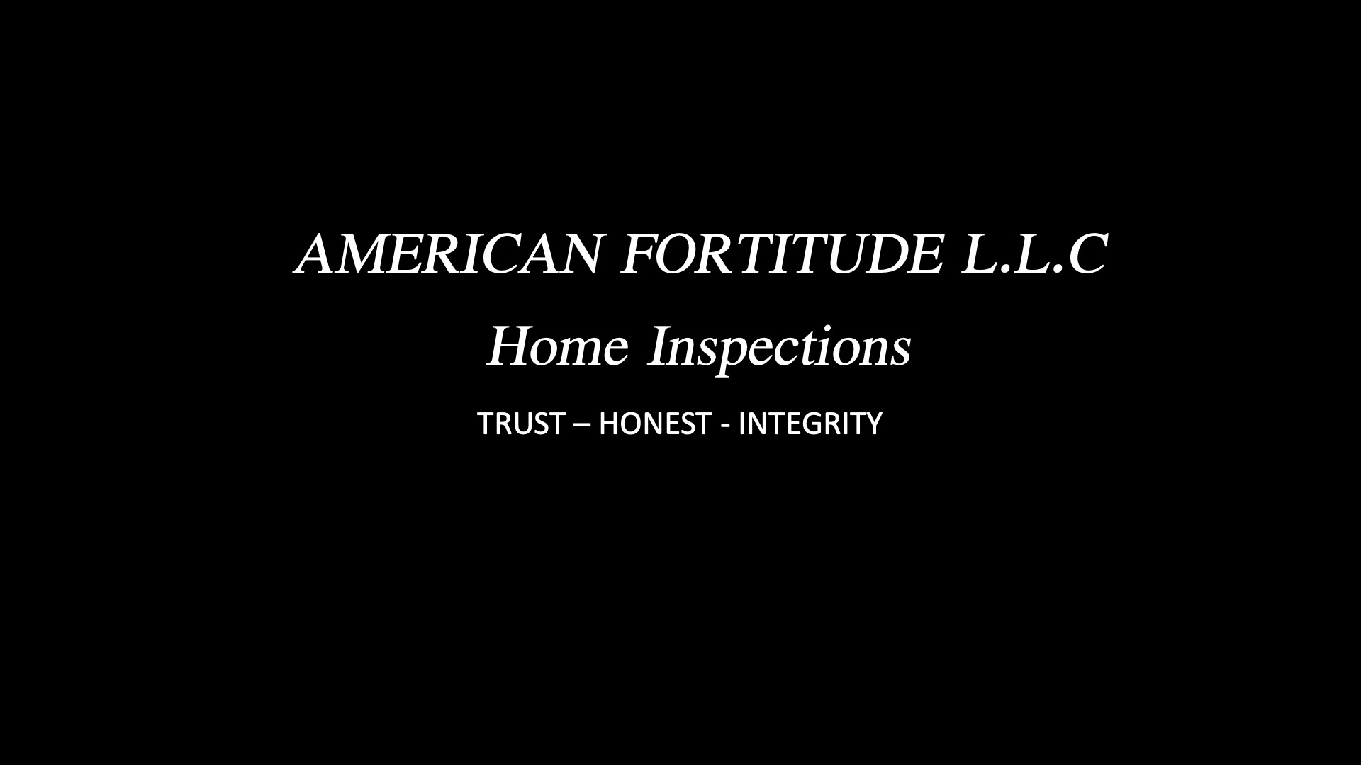 American Fortitude Home Inspections