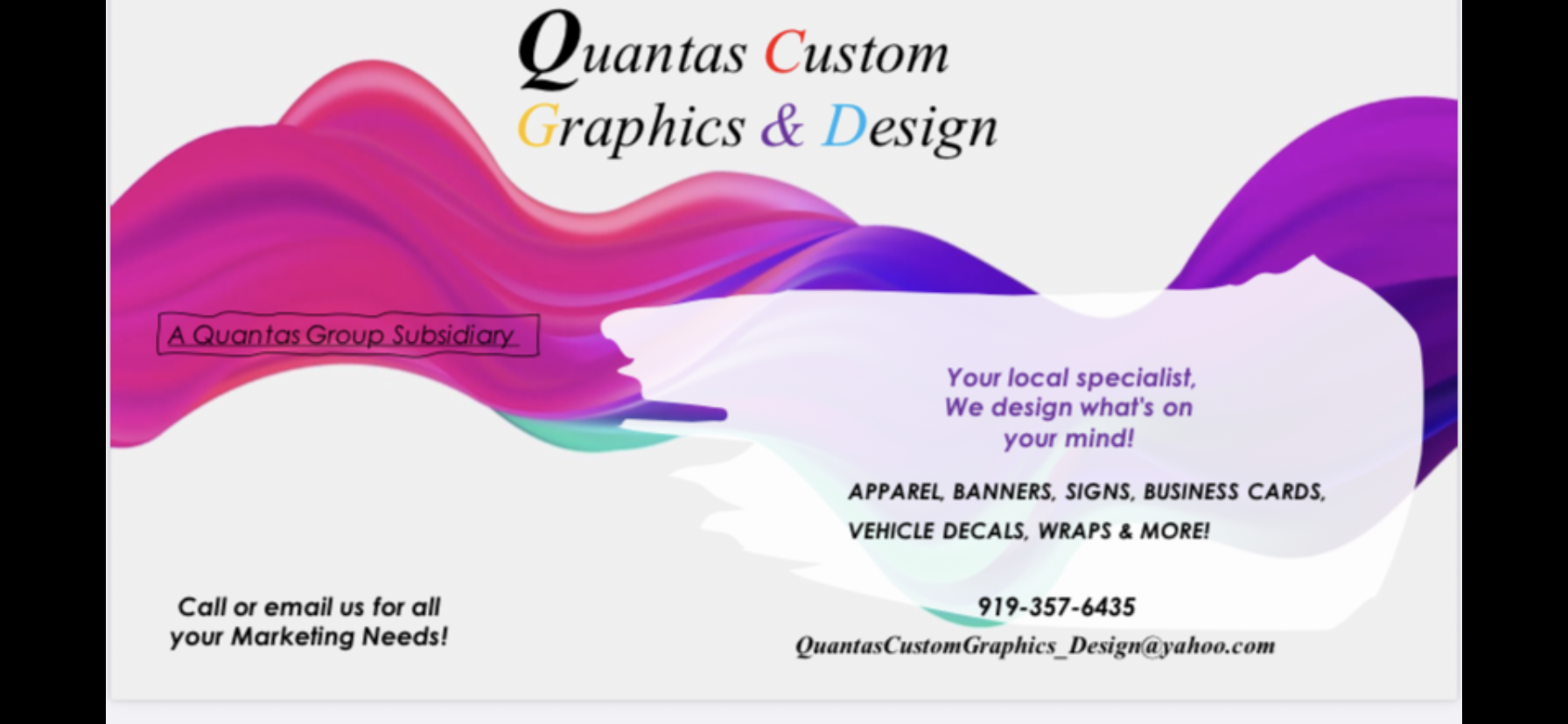 Quantas Custom Graphics & Design