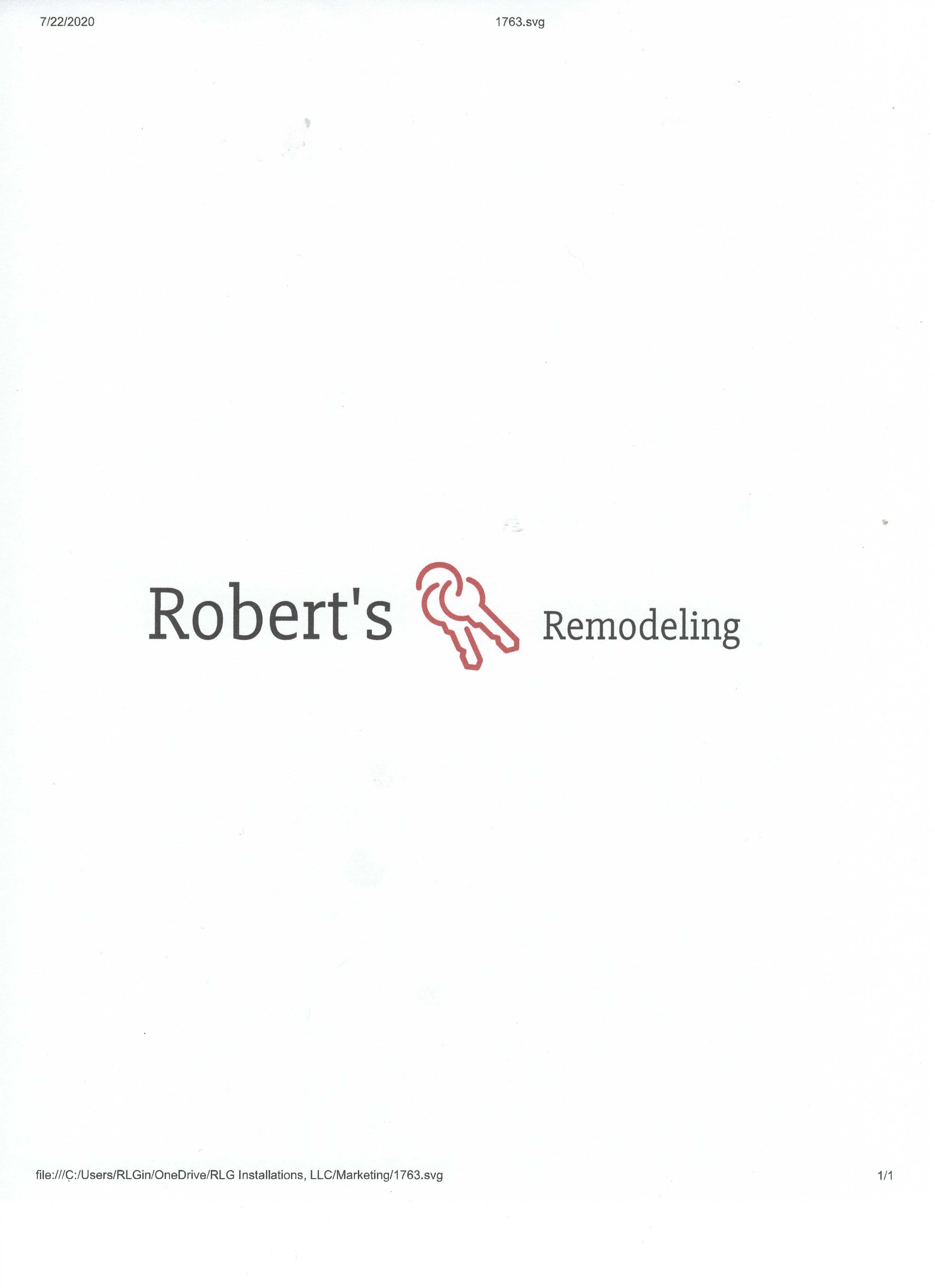 Robert's Remodeling
