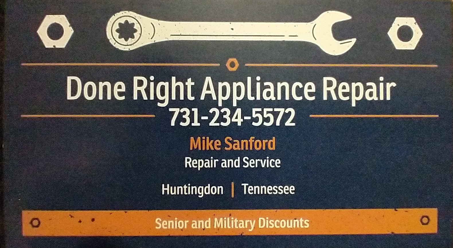 Done Right Appliance Repair and Service