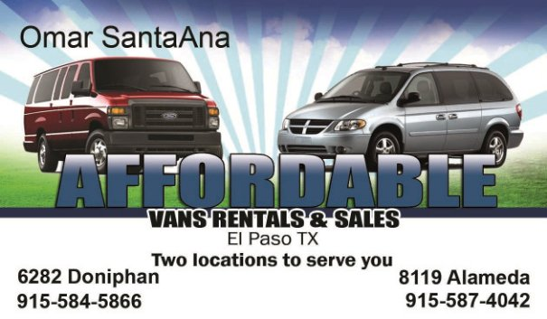 Affordable Van and Truck Rentals