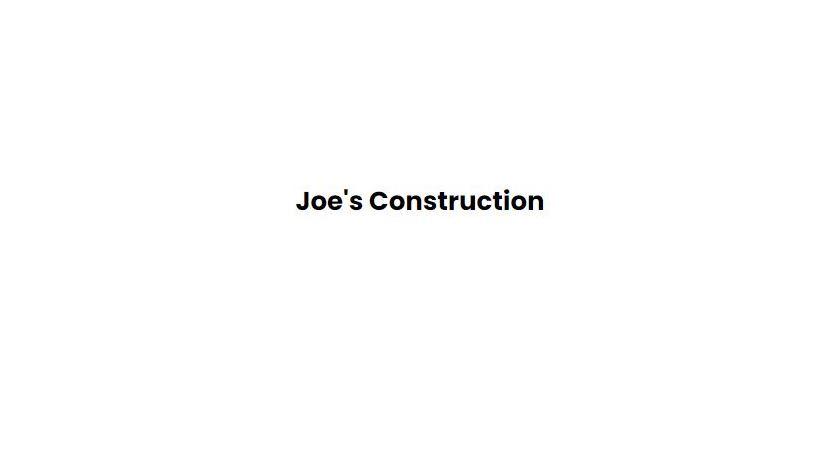 Joe's Construction