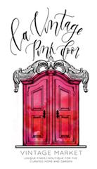 La Vintage Pink Door & Candle Bar