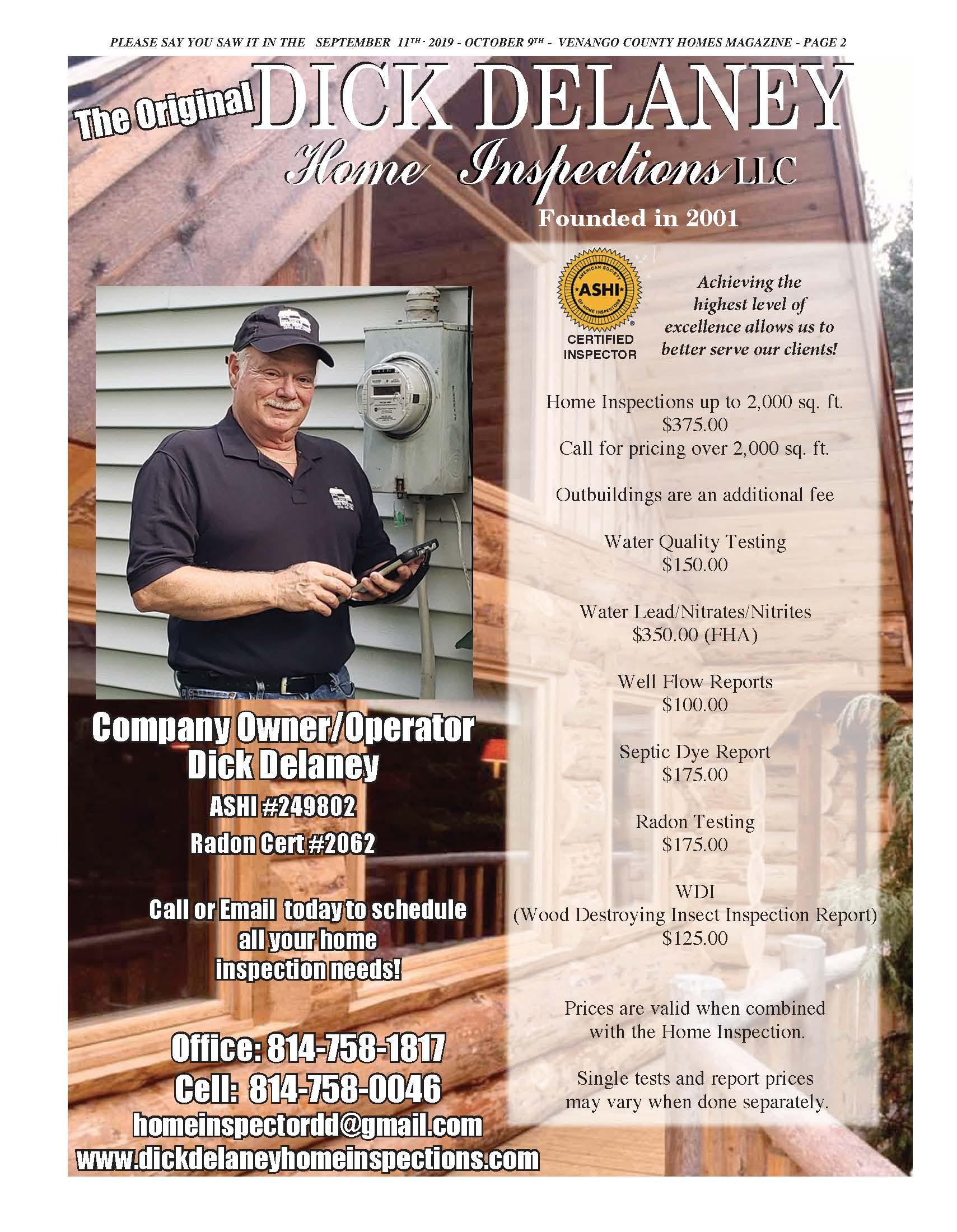 Dick Delaney Home Inspections LLC