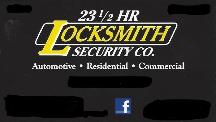 23 1/2 HR. Locksmith Security Co.