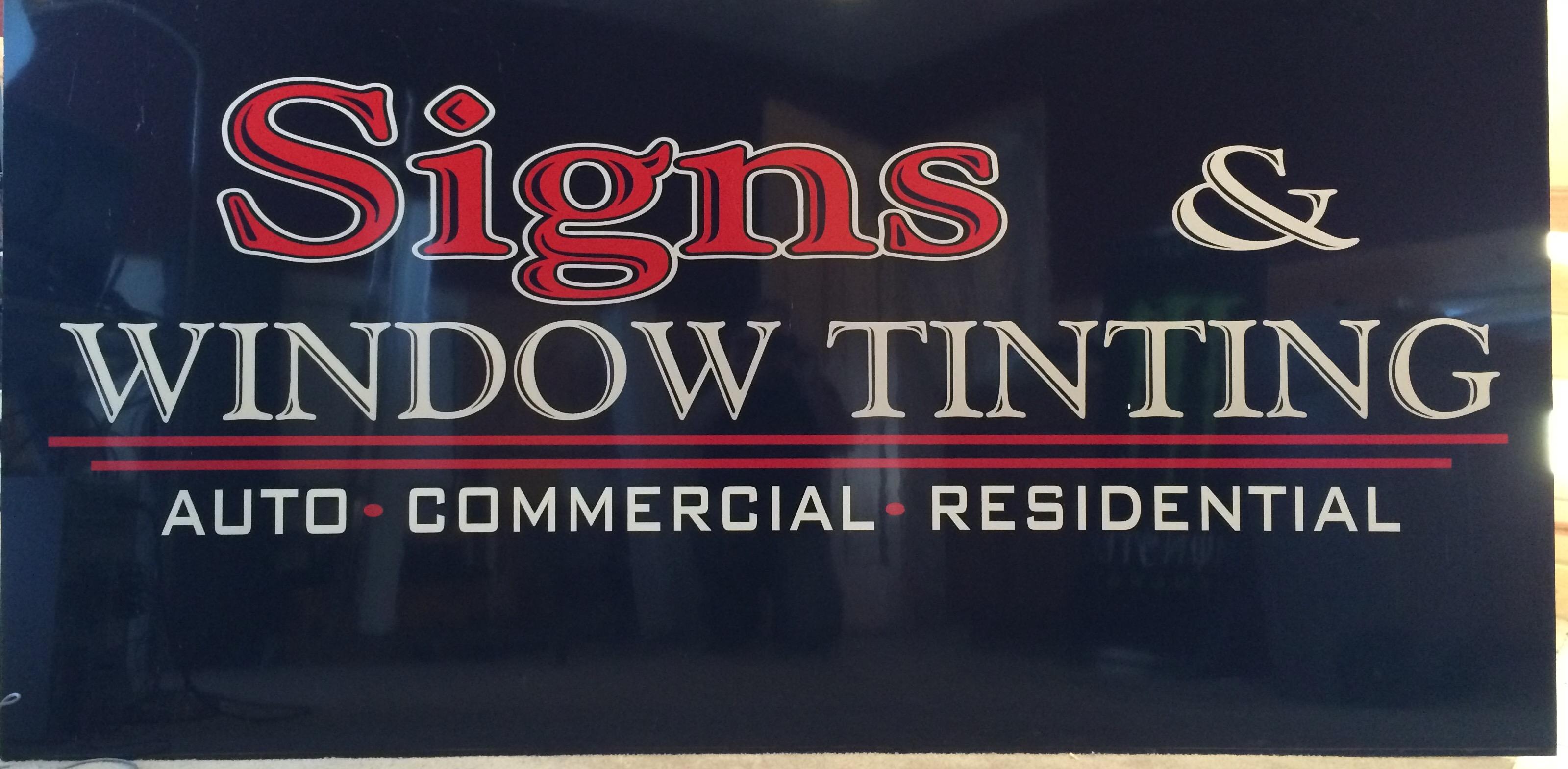 Signs & Window Tinting