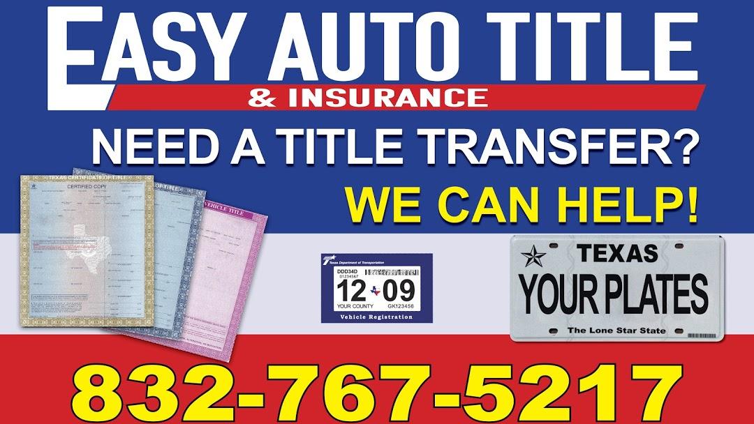 Easy Auto Title & Insurance