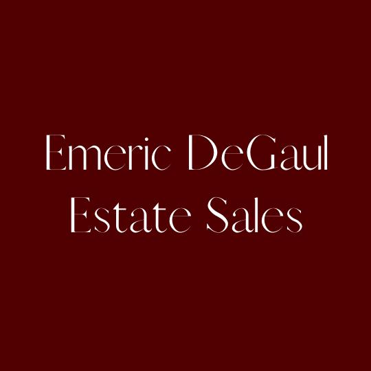 Emeric DeGaul Estate Sales